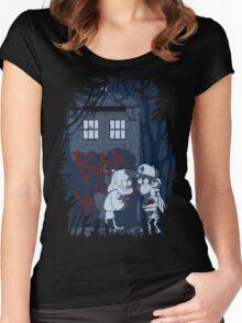 Bad wolf here? Women's Fitted Scoop T-Shirt