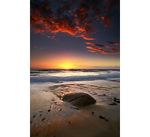 The Rock and the Sunset ..... Photographic Print