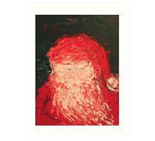 Santa Finger Painting Art Print