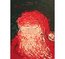 Santa Finger Painting Photographic Print