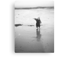 Jacob at the beach Metal Print