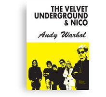 The Velvet Underground/Andy Warhol Canvas Print