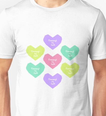 Feminist as fuck hearts Unisex T-Shirt