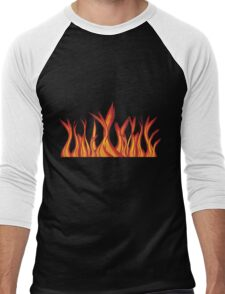 Flame Men's Baseball ¾ T-Shirt