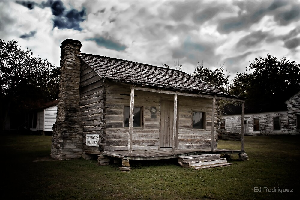 Old Log Cabin by Ed Rodriguez