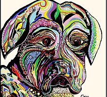 Colorful Boxer by EloiseArt
