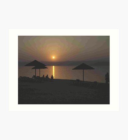 Sunset over the Dead Sea, Jordan Valley Art Print