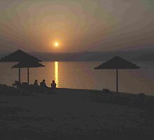 Sunset over the Dead Sea, Jordan Valley by Hermann Hanekom