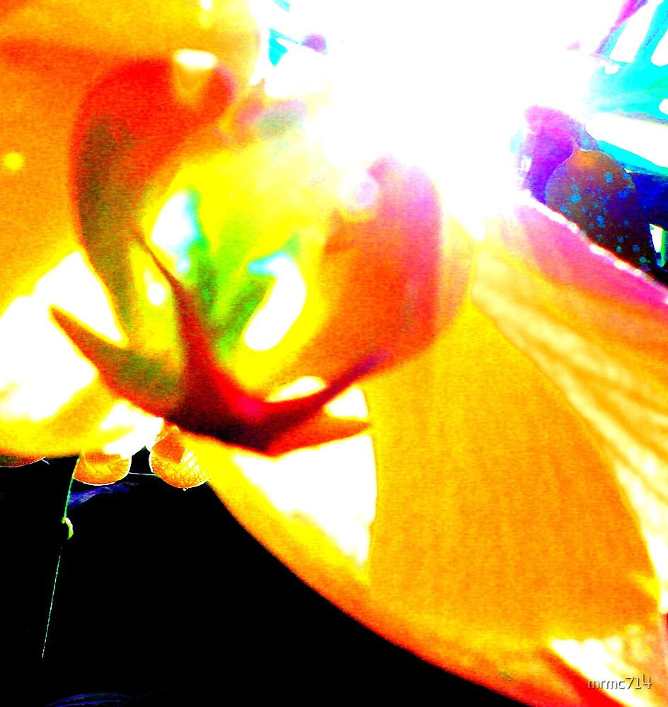 yellow flower abstract by mrmc714