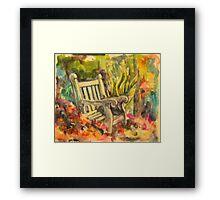 A shady spot Framed Print
