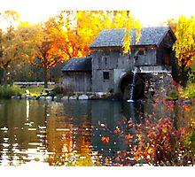 Rockford Mill Pond at Sunrise   Photographic Print