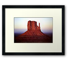 Red Monolith Framed Print
