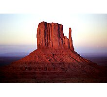 Red Monolith Photographic Print