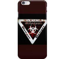 Danger warning red  iPhone Case/Skin