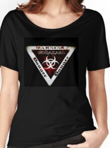 Danger warning red  Women's Relaxed Fit T-Shirt