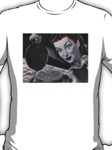 Creepy Vintage 3D Waffle Lady  T-Shirt