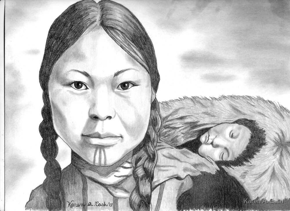 'Inuit Mother and Child' by Karen A. Cash