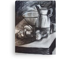 Still Life in Charcoal Canvas Print