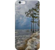 Cypress trees on the beach iPhone Case/Skin