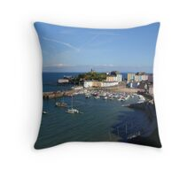 tenby harbour Throw Pillow