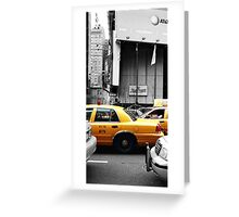 Yellow Cab (Number 3 of a series of 3 cards) Greeting Card