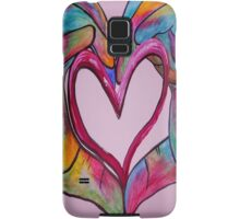 Universal Sign for Love - You Hold my Heart in Your Hand Samsung Galaxy Case/Skin