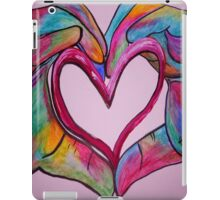 Universal Sign for Love - You Hold my Heart in Your Hand iPad Case/Skin