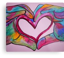 Universal Sign for Love - You Hold my Heart in Your Hand Metal Print