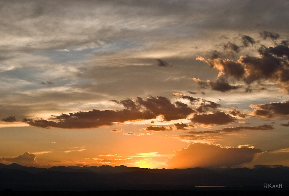 Sunset over the Rockies by RKastl