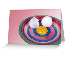 Egg Face Greeting Card