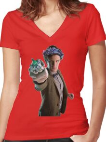 Bowties Are Cool But Flower Crowns Are Better Women's Fitted V-Neck T-Shirt