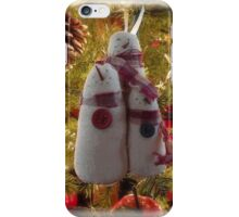 Snowmen ornament iPhone Case/Skin