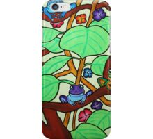 Frittering Frogs - Oil Pastels on Watercolor Paper  iPhone Case/Skin