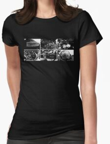 Vintage bikes Womens Fitted T-Shirt