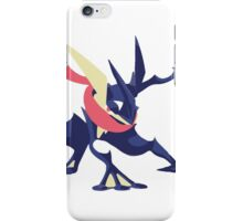 Minimalist Greninja from Super Smash Bros. 4  iPhone Case/Skin