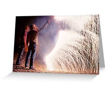 Boys on the Fourth of July Greeting Card
