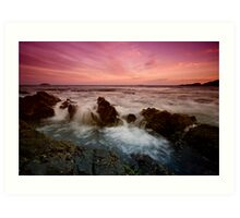 Serenity Beach at Dusk 4 Art Print