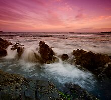 Serenity Beach at Dusk 4 by Mark Snelson