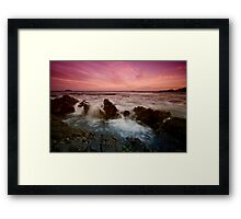 Serenity Beach at Dusk 4 Framed Print