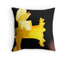 Yellow flower glowing in the dark Throw Pillow