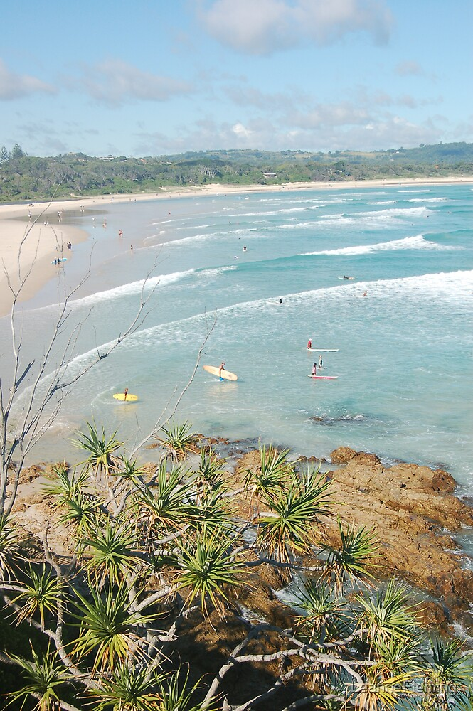 Surfing at Byron Bay by LeanneFleming