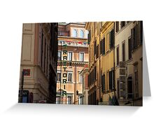 Trattoria - Rome, Italy Greeting Card