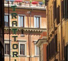 Trattoria - Rome, Italy Sticker