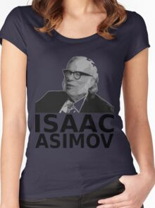 Isaac Asimov Black & White Vector Women's Fitted Scoop T-Shirt