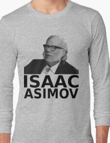Isaac Asimov Black & White Vector Long Sleeve T-Shirt