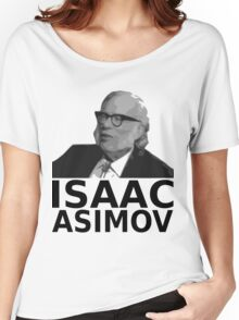 Isaac Asimov Black & White Vector Women's Relaxed Fit T-Shirt