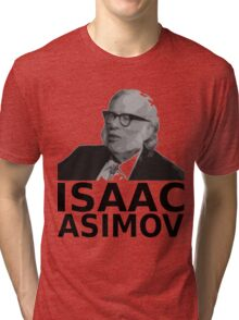 Isaac Asimov Black & White Vector Tri-blend T-Shirt