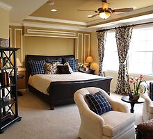 Black and Blue Master Bedroom by digerati