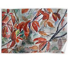 Watercolor Leaves Poster