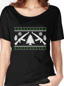 Funny AK47 Ugly Holiday Sweater Women's Relaxed Fit T-Shirt